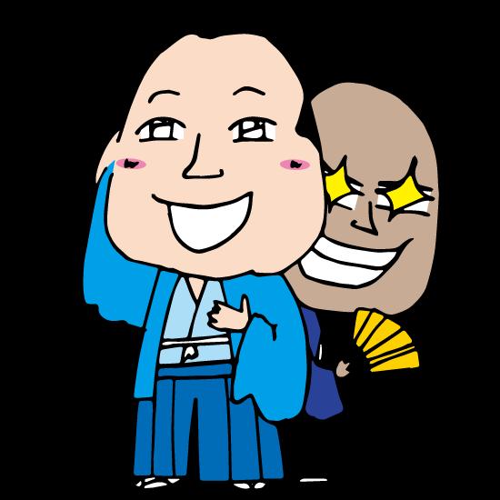時代劇の親玉&黒幕悪代官の裏の顔の無料イラスト素材Japan_Evil_officer