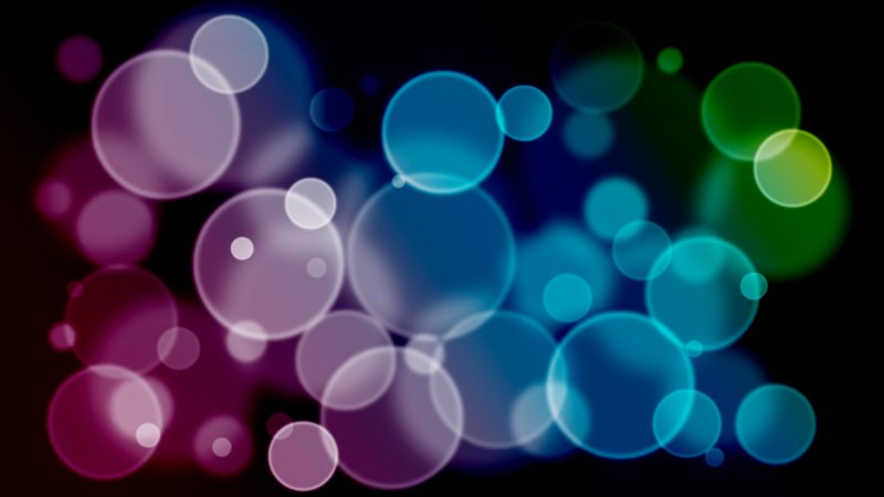 水玉グラデーションのYouTubeサムネイル用素材
