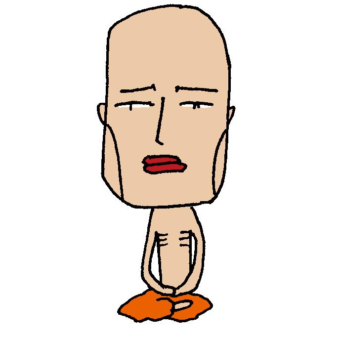 【無料イラスト素材】少しかわいいインドの修行僧【仏教】