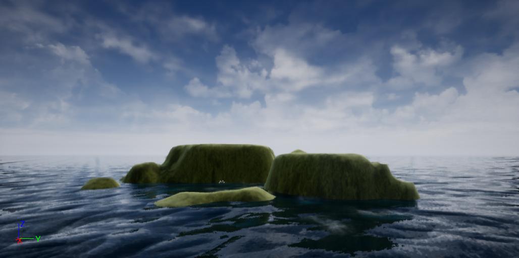 ゲームエンジンで美しい風景を作ろう_UE4水面と地上