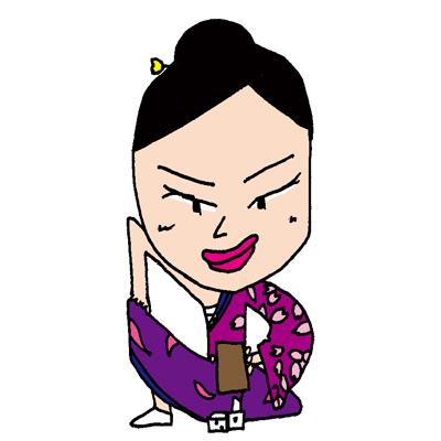 【無料イラスト素材】丁半賭博とサイコロを出す女性【江戸時代の娯楽】