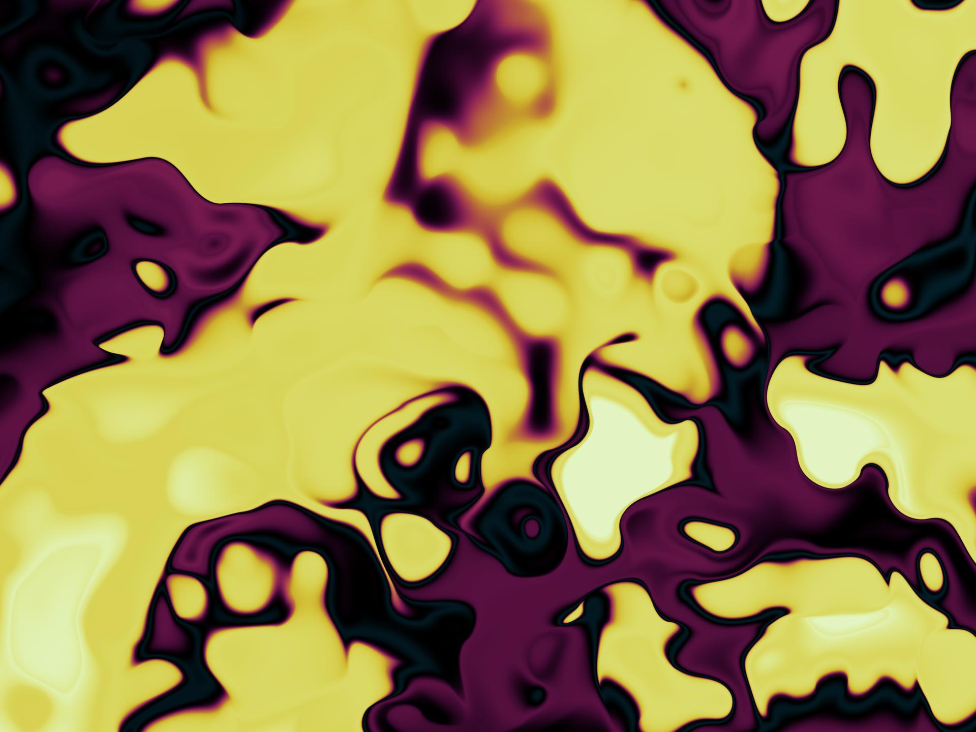 ・ドロップインクを混ぜたマーブリングの壁紙:イエロー