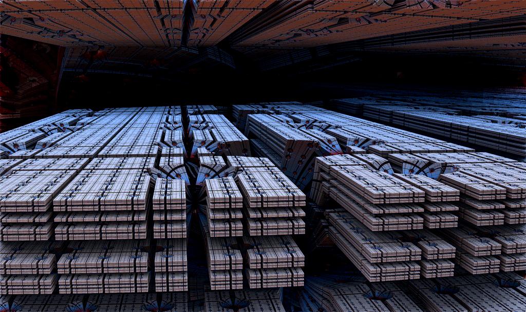 SFの巨大マシン&宇宙基地の中:ブルー