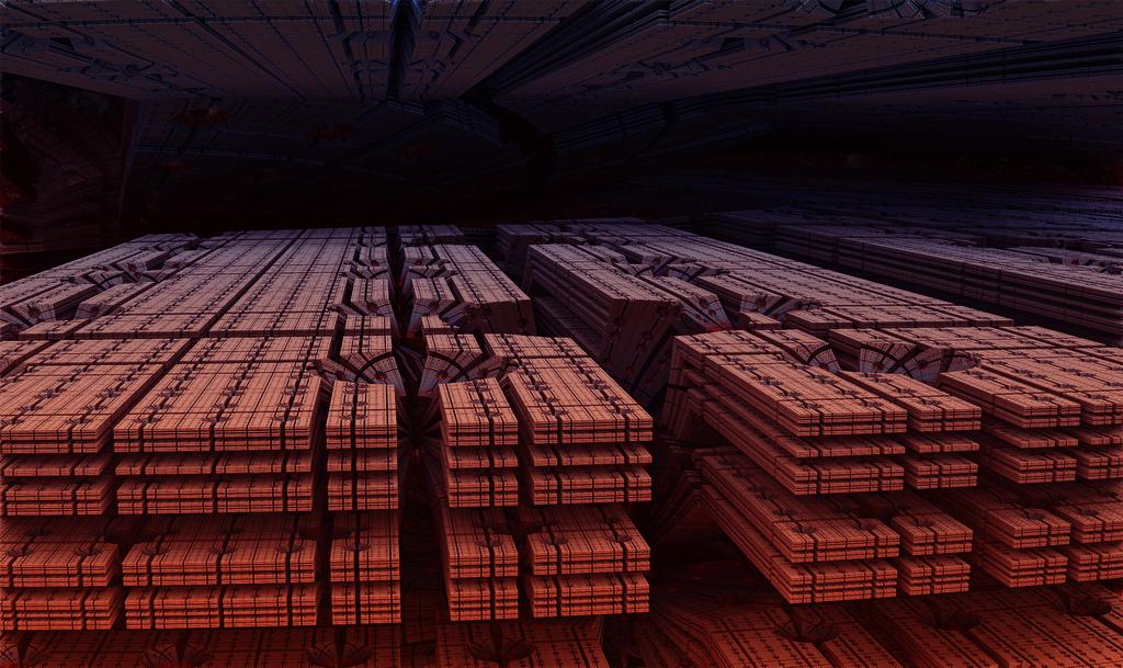 ・SFの巨大マシン&宇宙基地の中:ホラー