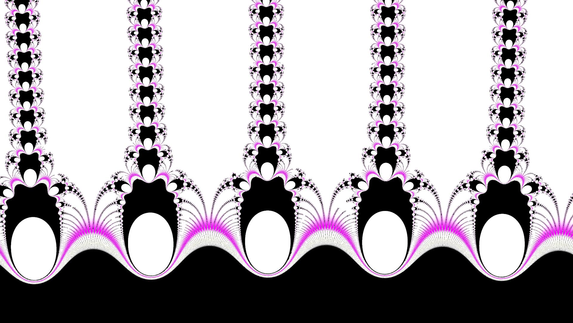・おしゃれなチェーンリング壁紙素材:ピンク