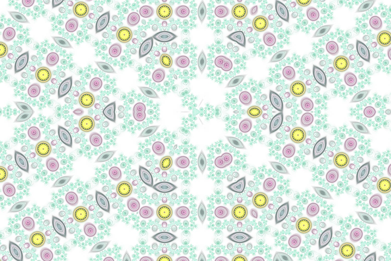 かわいいカラフル_パステル花柄