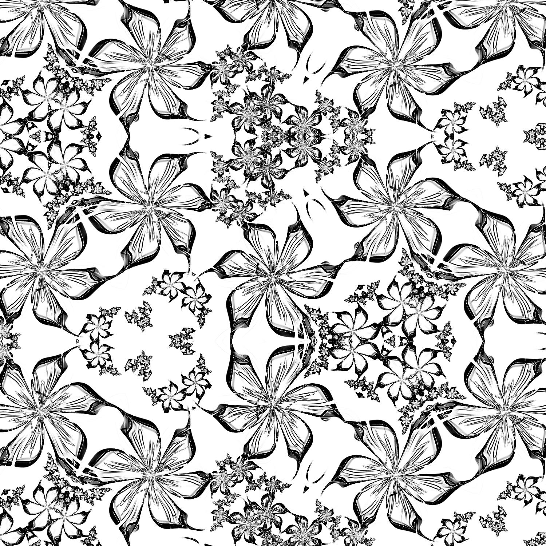 かわいい花びら-ヒラヒラピンク_線画