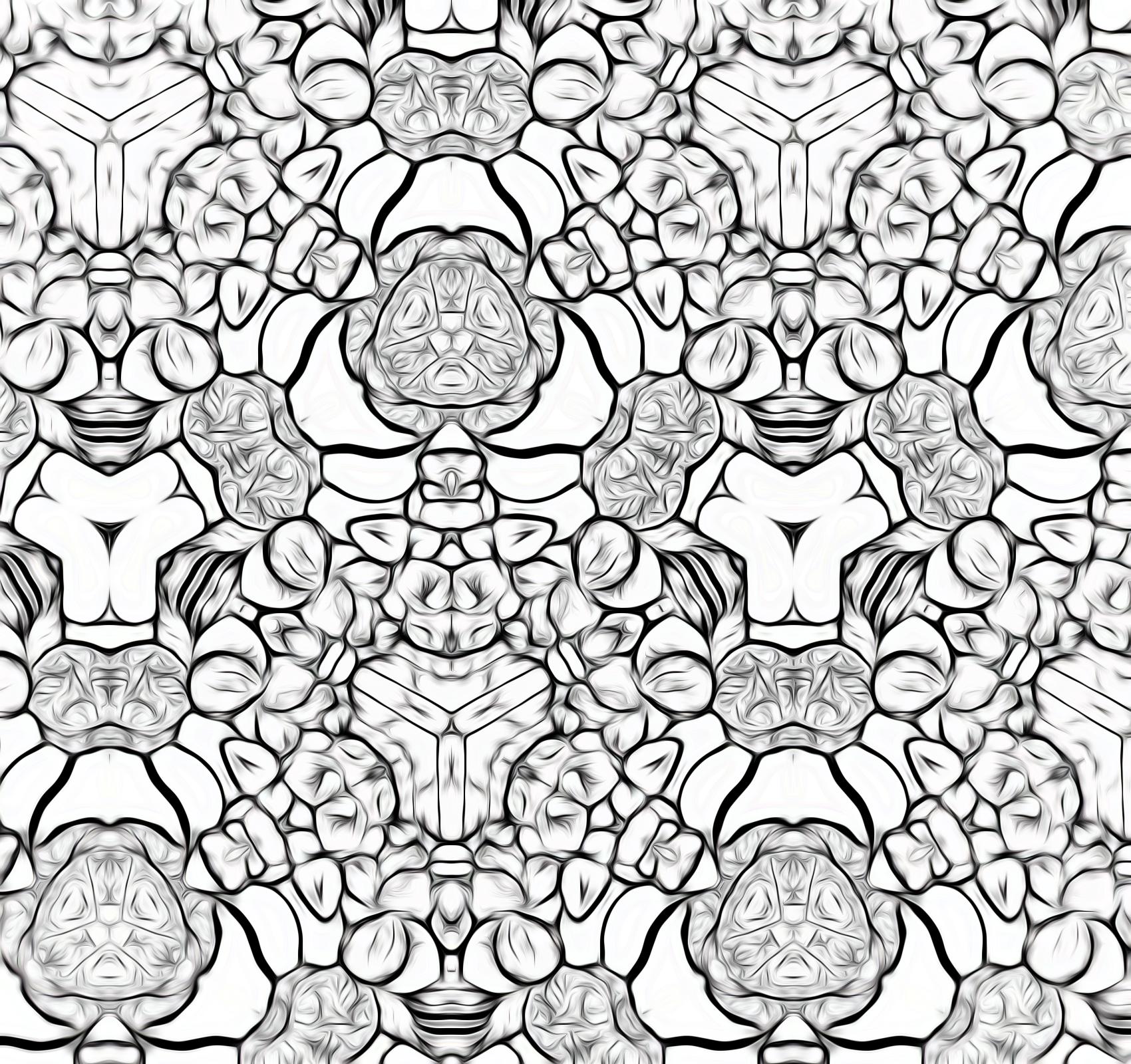 ・トロピカルフルーツ カラフル盛り合わせ柄:スケッチ