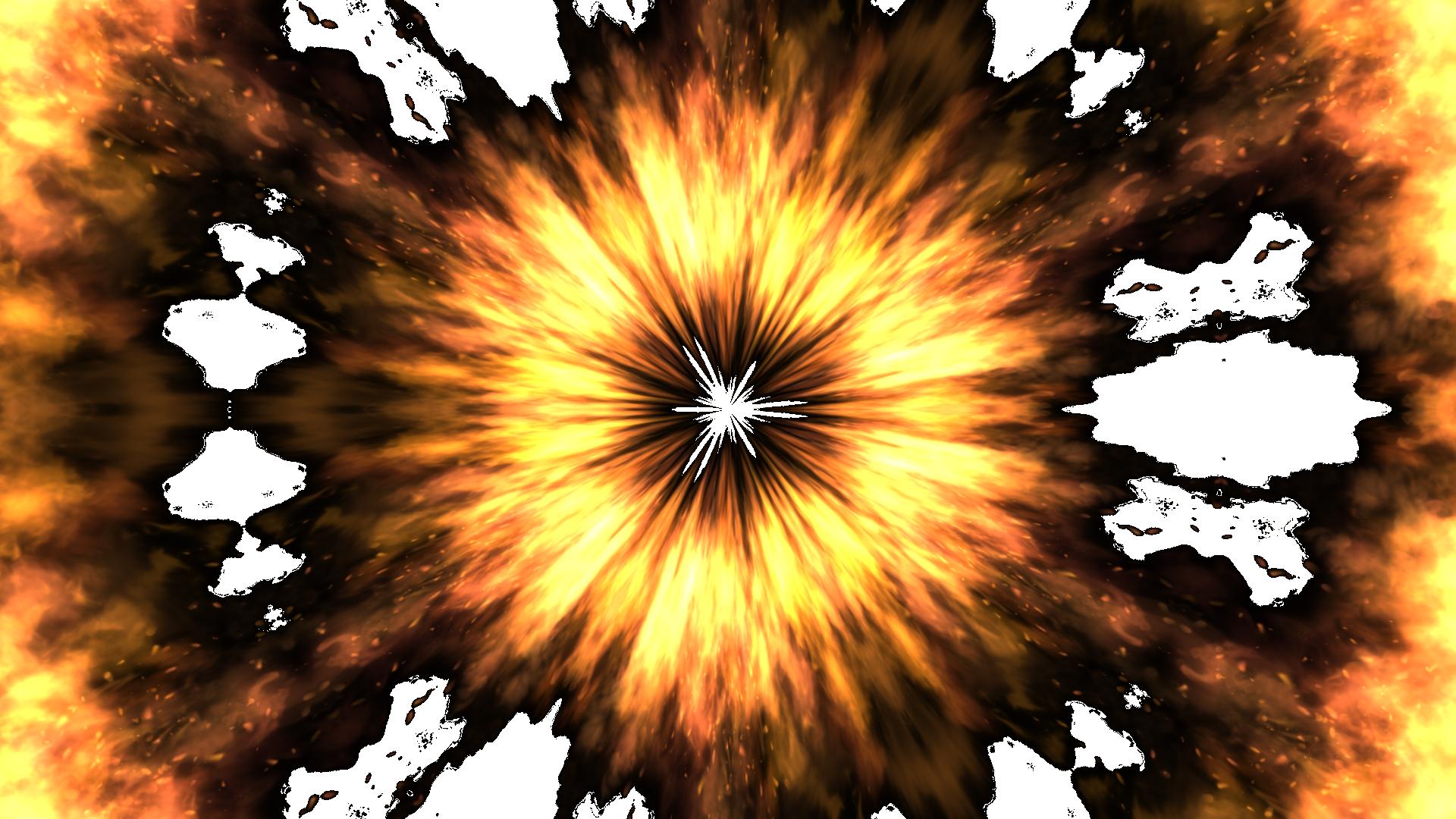 ファイヤー集中線-炎の魔法エフェクト-背景透明