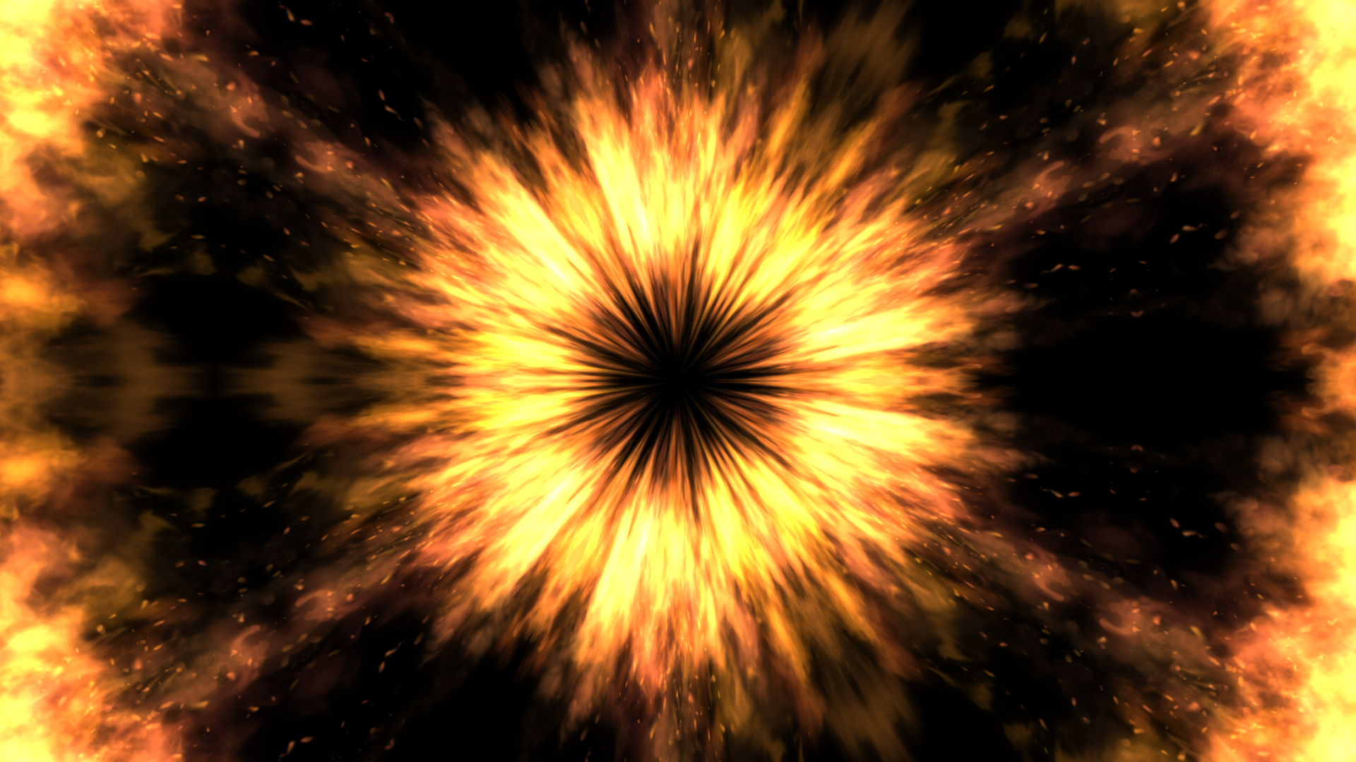ファイヤー集中線-炎の魔法エフェクト