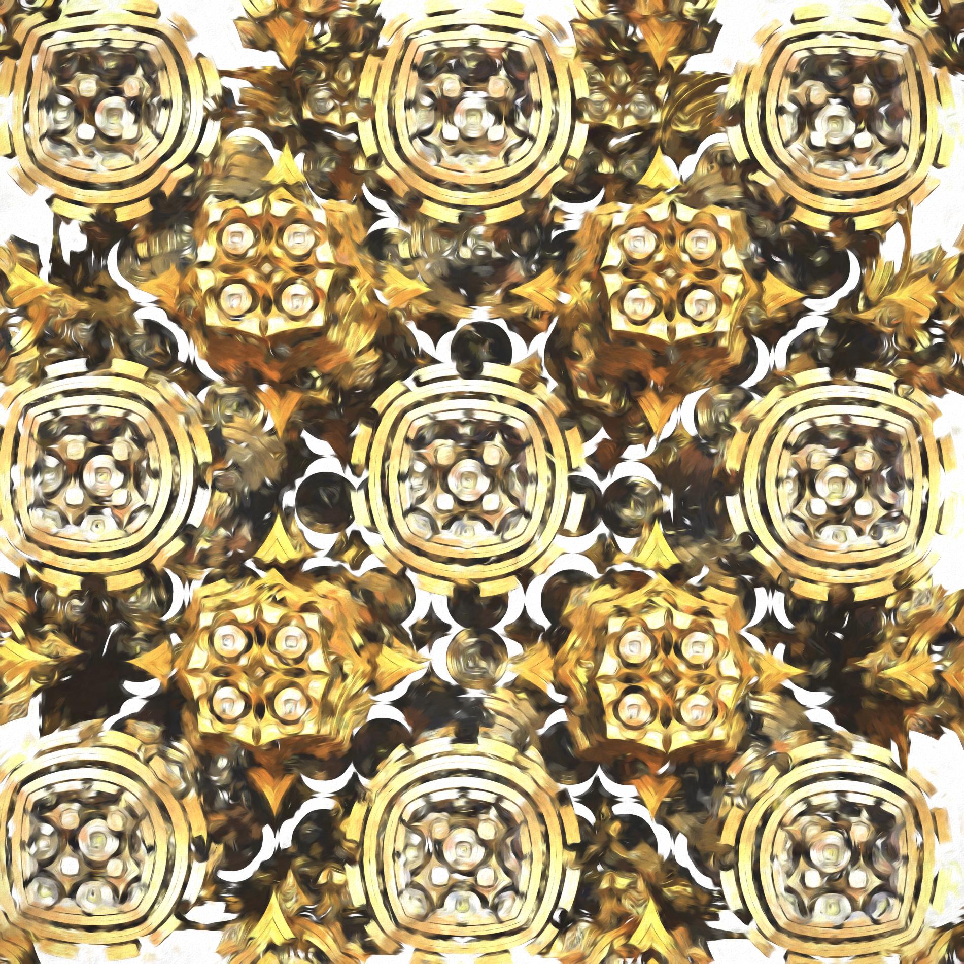ゴールドダイヤモンド&クリスタルライト:水彩
