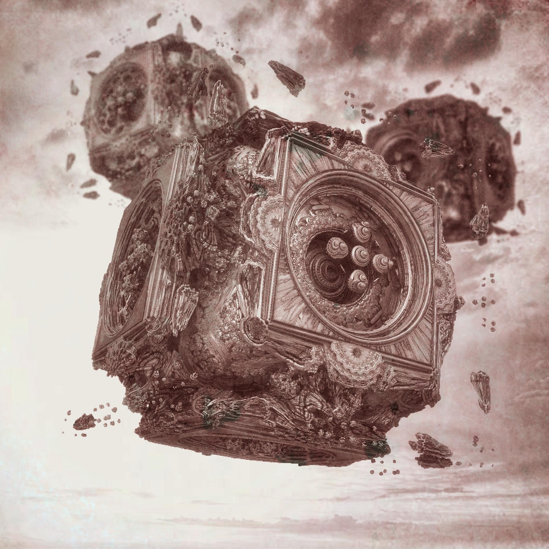 癒しの神秘的な空と静かな機械:セピア