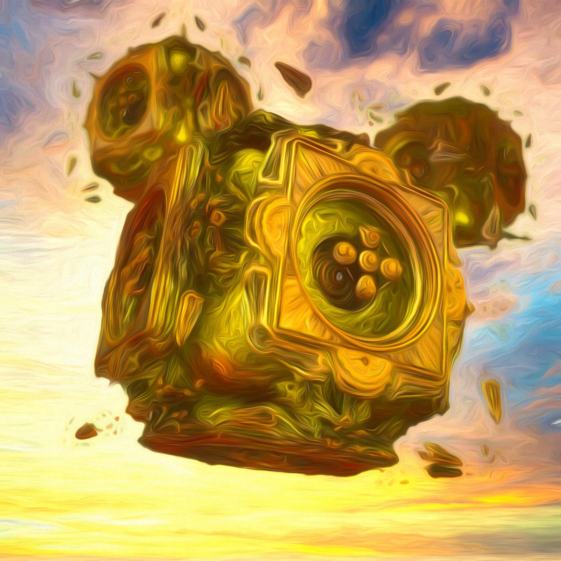 癒しの神秘的な空と静かな機械:ソフト
