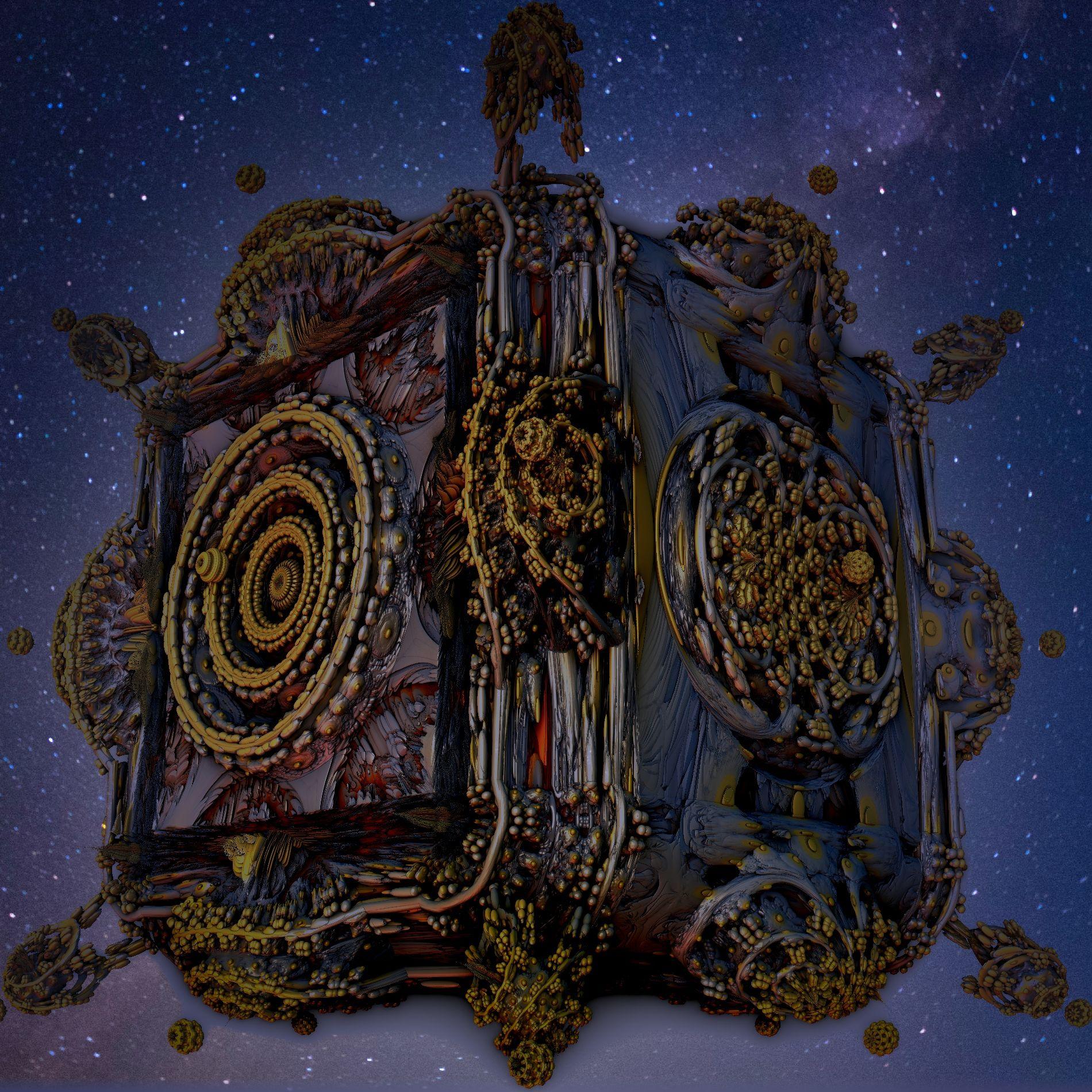 空に浮かぶ神秘的な寺院&ミステリアス:宇宙