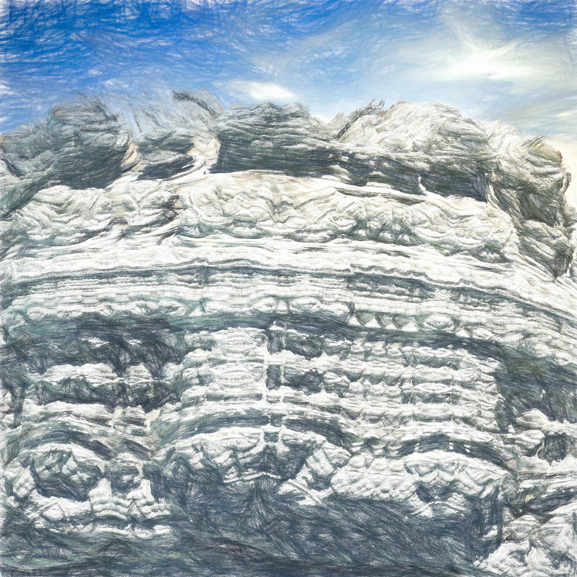 絶壁で冷たい岩肌&冒険アドベンチャー風の山:パステル