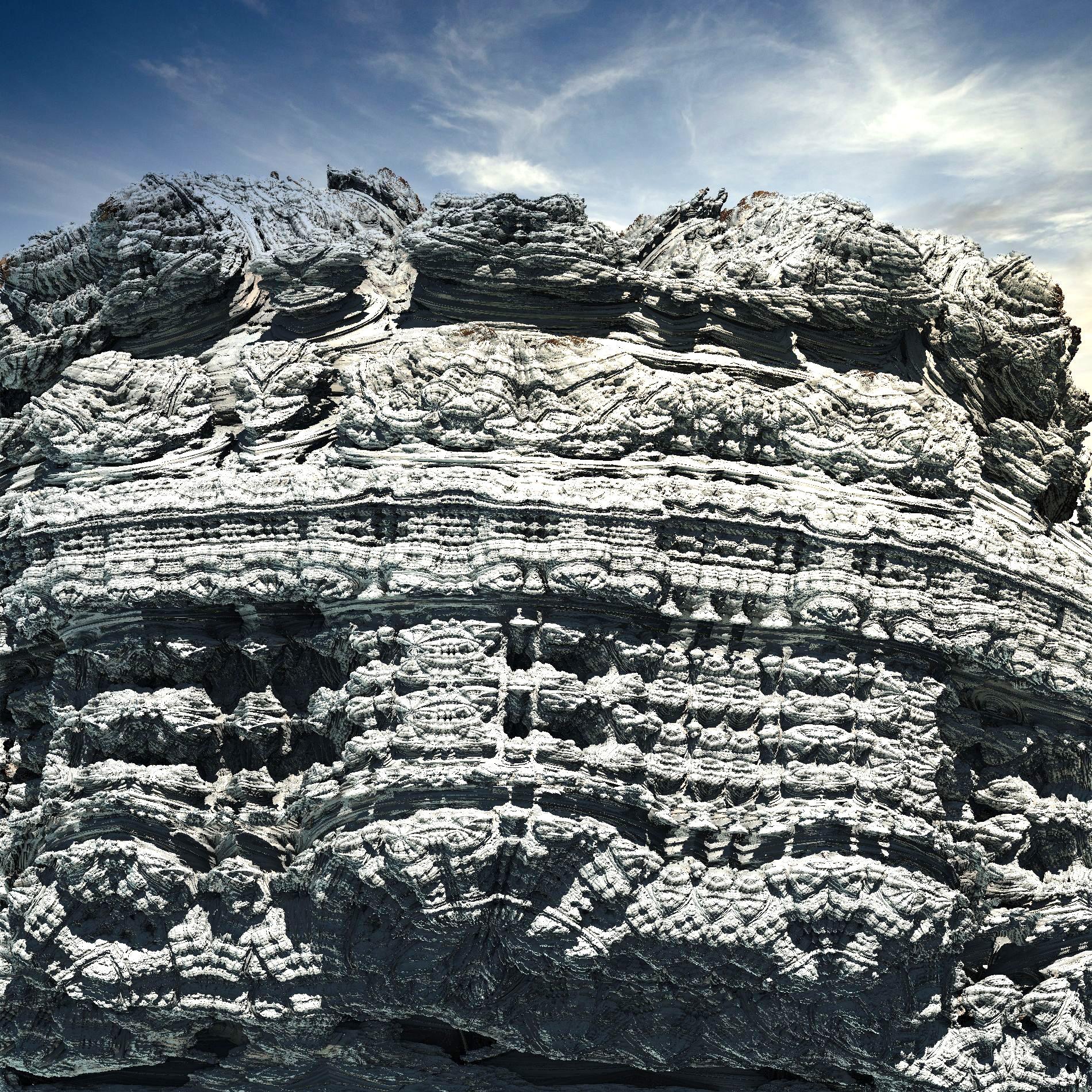 ・絶壁で冷たい岩肌&冒険アドベンチャー風の山:リアル