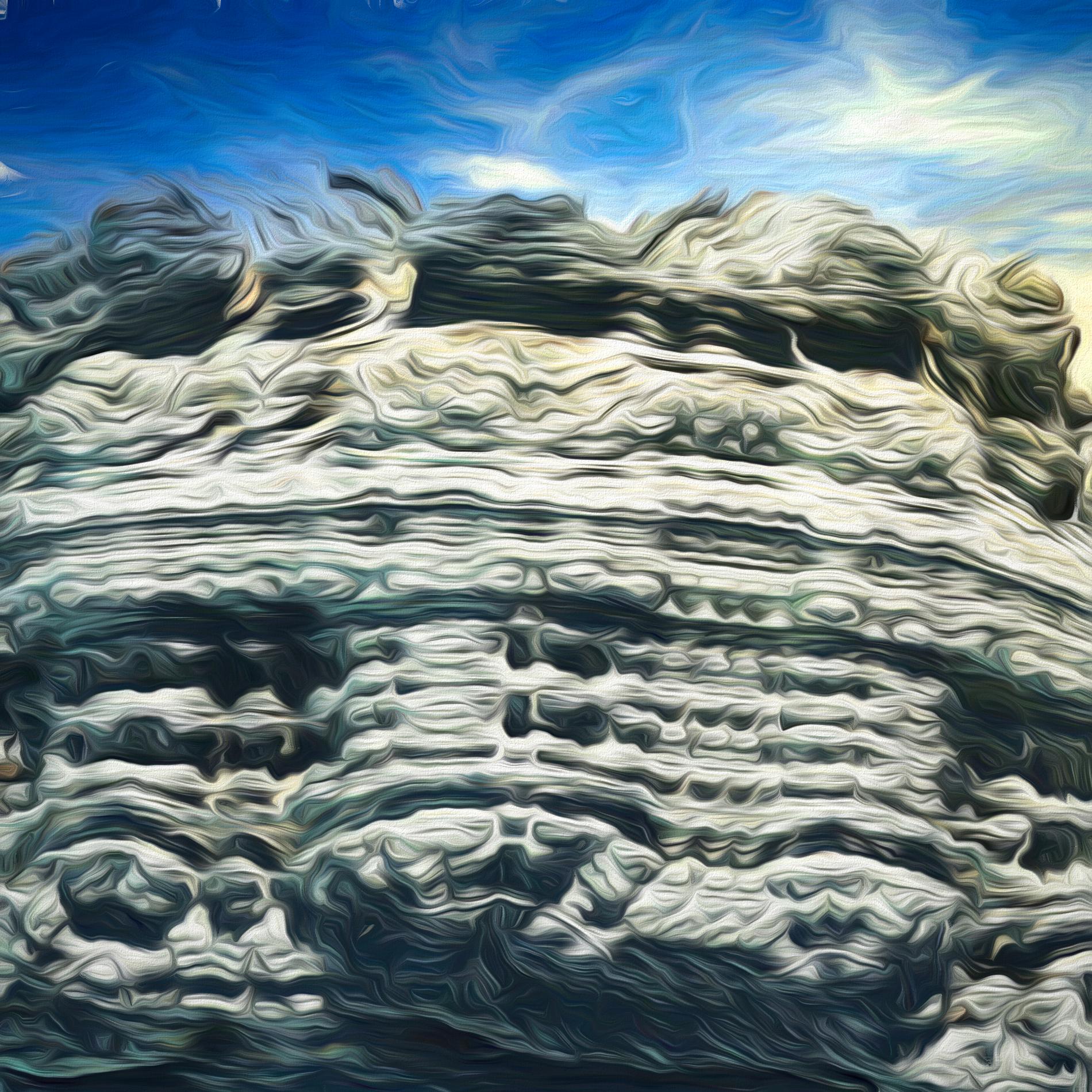絶壁で冷たい岩肌&冒険アドベンチャー風の山:柔らかソフト