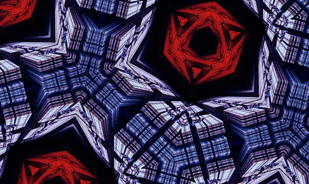SFのスペース機械のパターン_ブルー