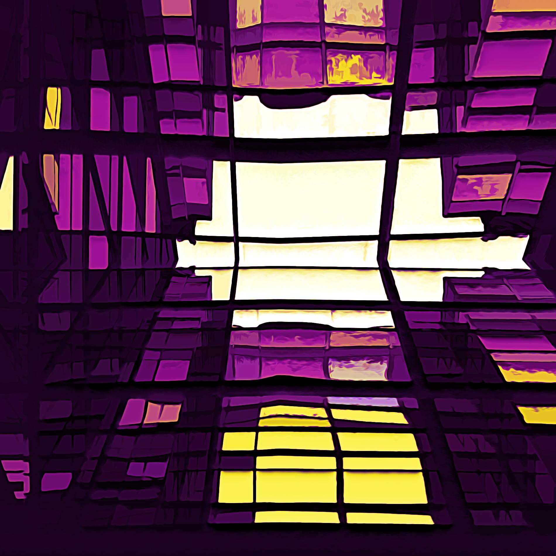 抽象絵画の色彩と三原色の芸術パターン:シュール