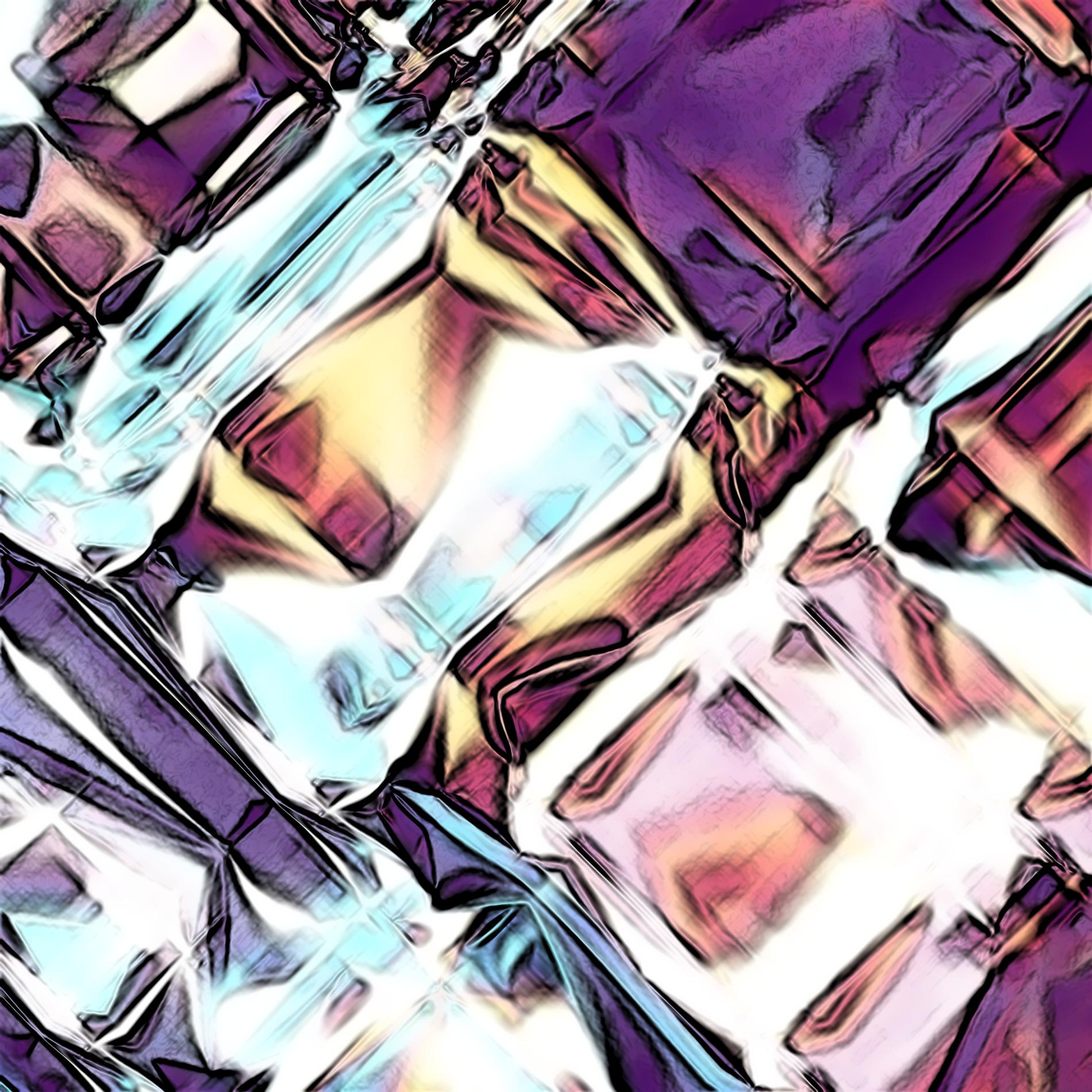 ネオンダイヤモンド&ダークライト宝石:コミックパープル