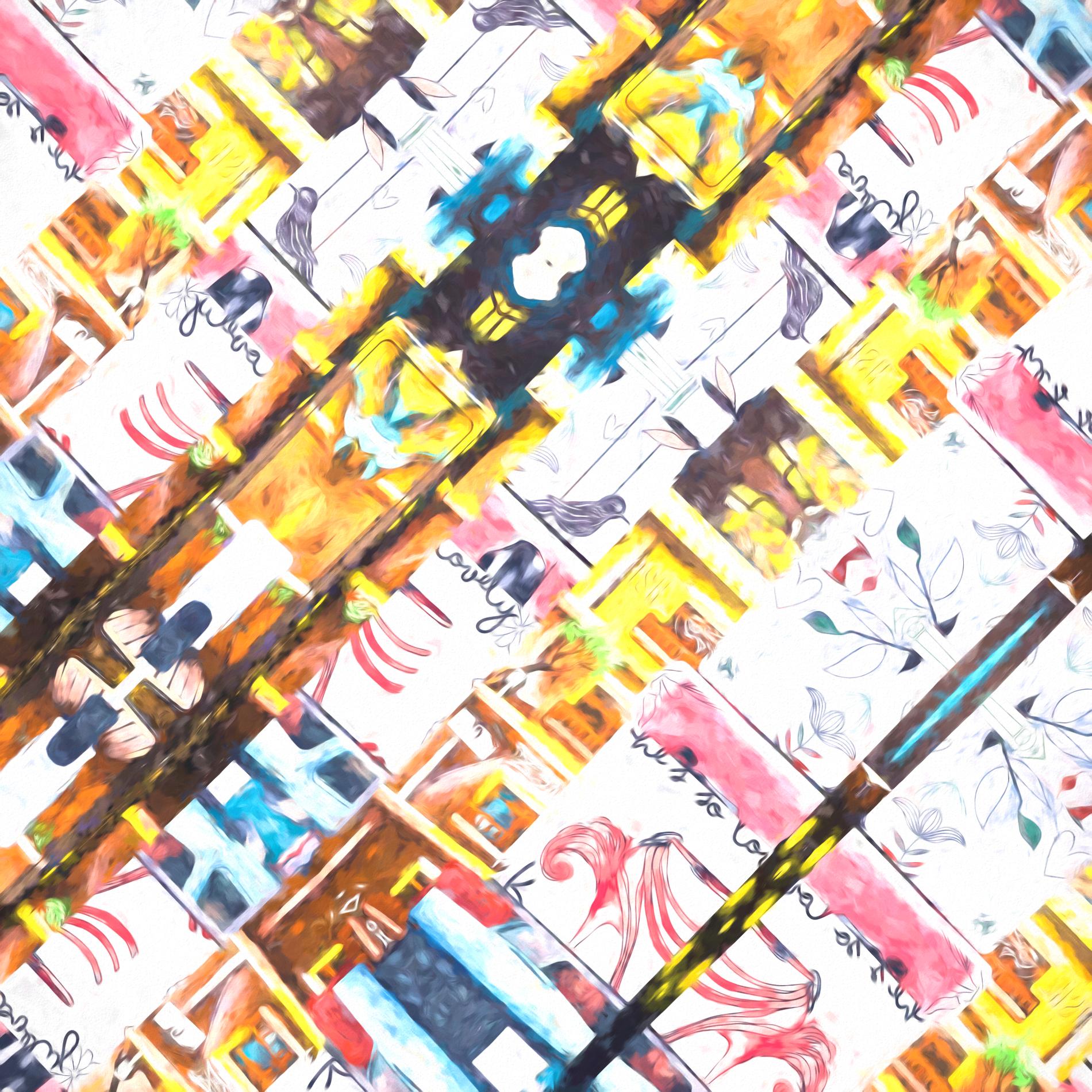・おしゃれなカラフルポスター&かわいい壁紙:水彩