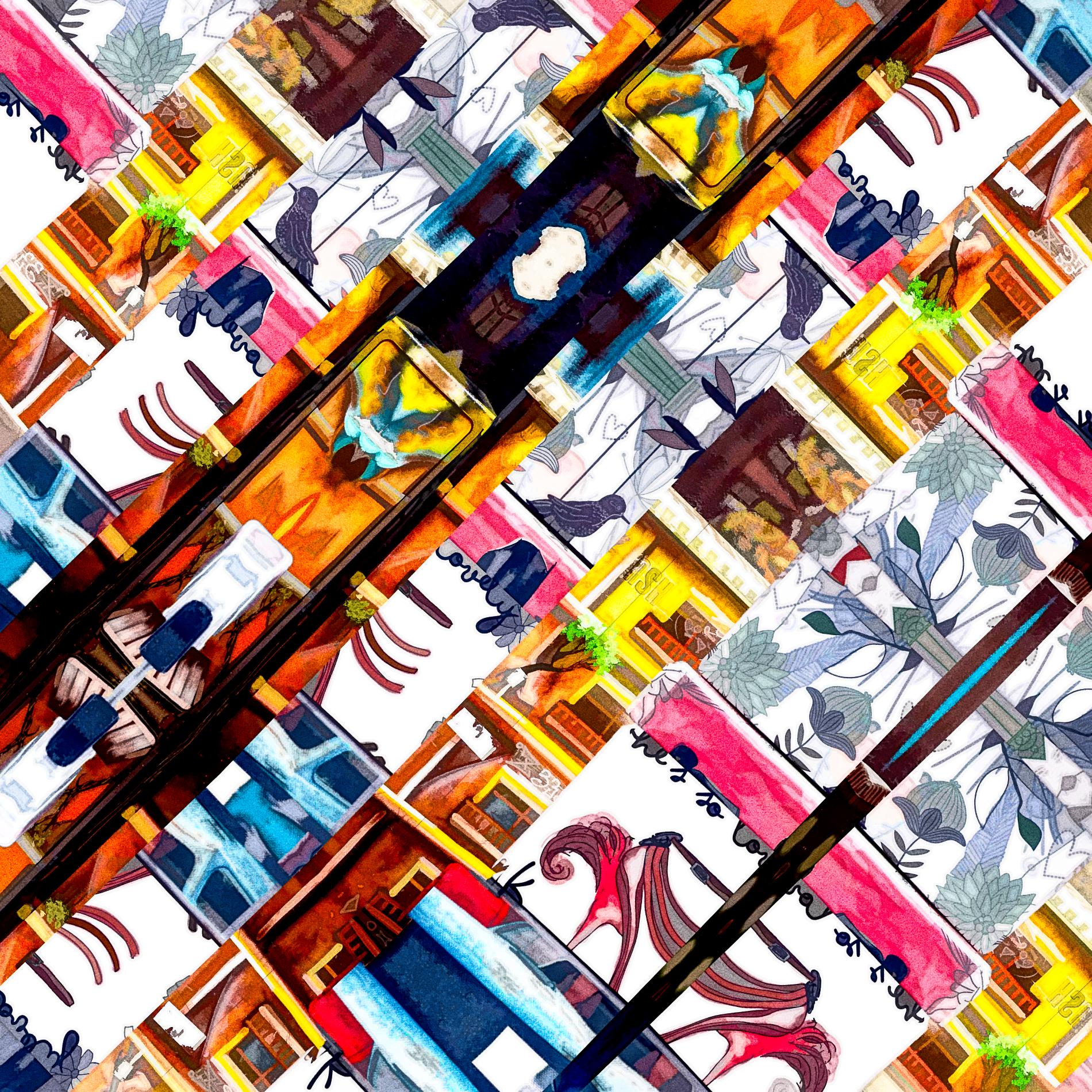 おしゃれなカラフルポスター&かわいい壁紙:油絵
