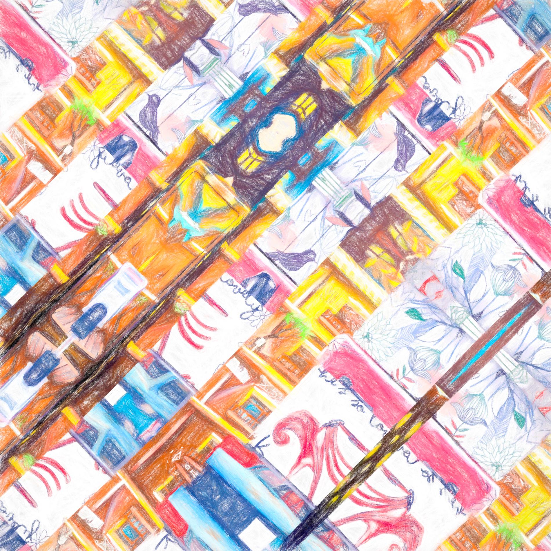 おしゃれなカラフルポスター&かわいい壁紙:色鉛筆