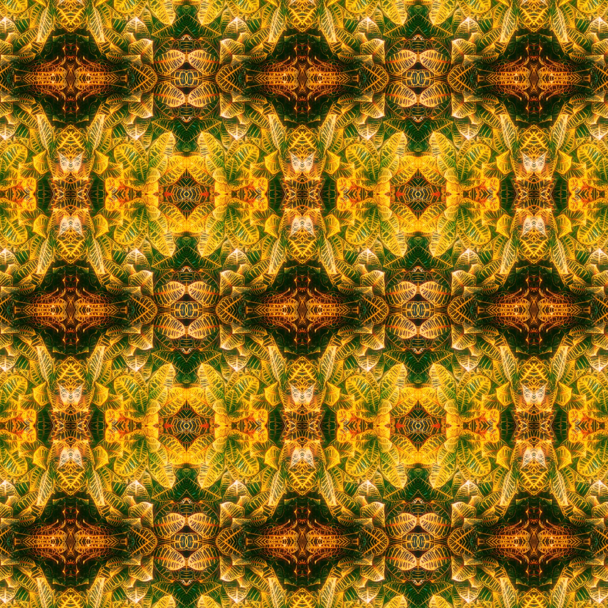 エレガントなリーフパターン&貴族スタイル壁紙:シャープ