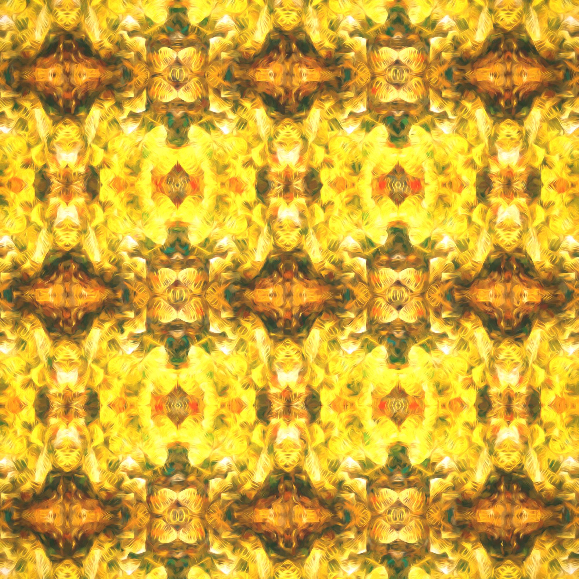 エレガントなリーフパターン&貴族スタイル壁紙:色鉛筆
