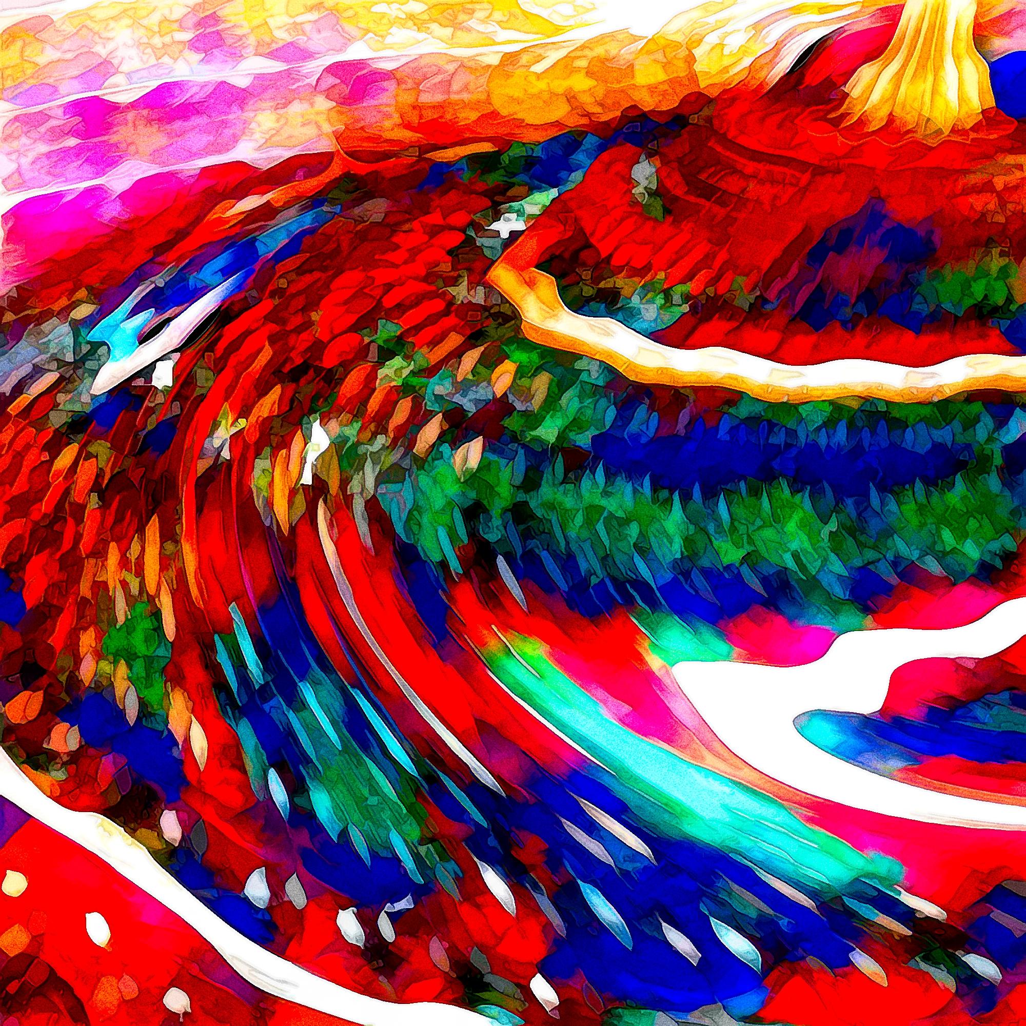 キラキラダイヤモンドクリスタルの世界:油彩