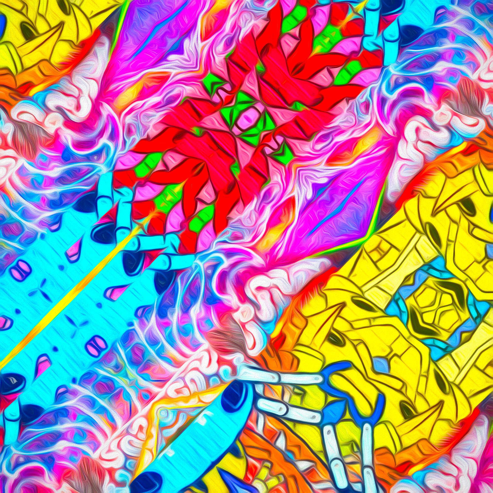 【無料背景画像】カートゥーンポップ&カラフルコミックス壁紙:柔らかソフト