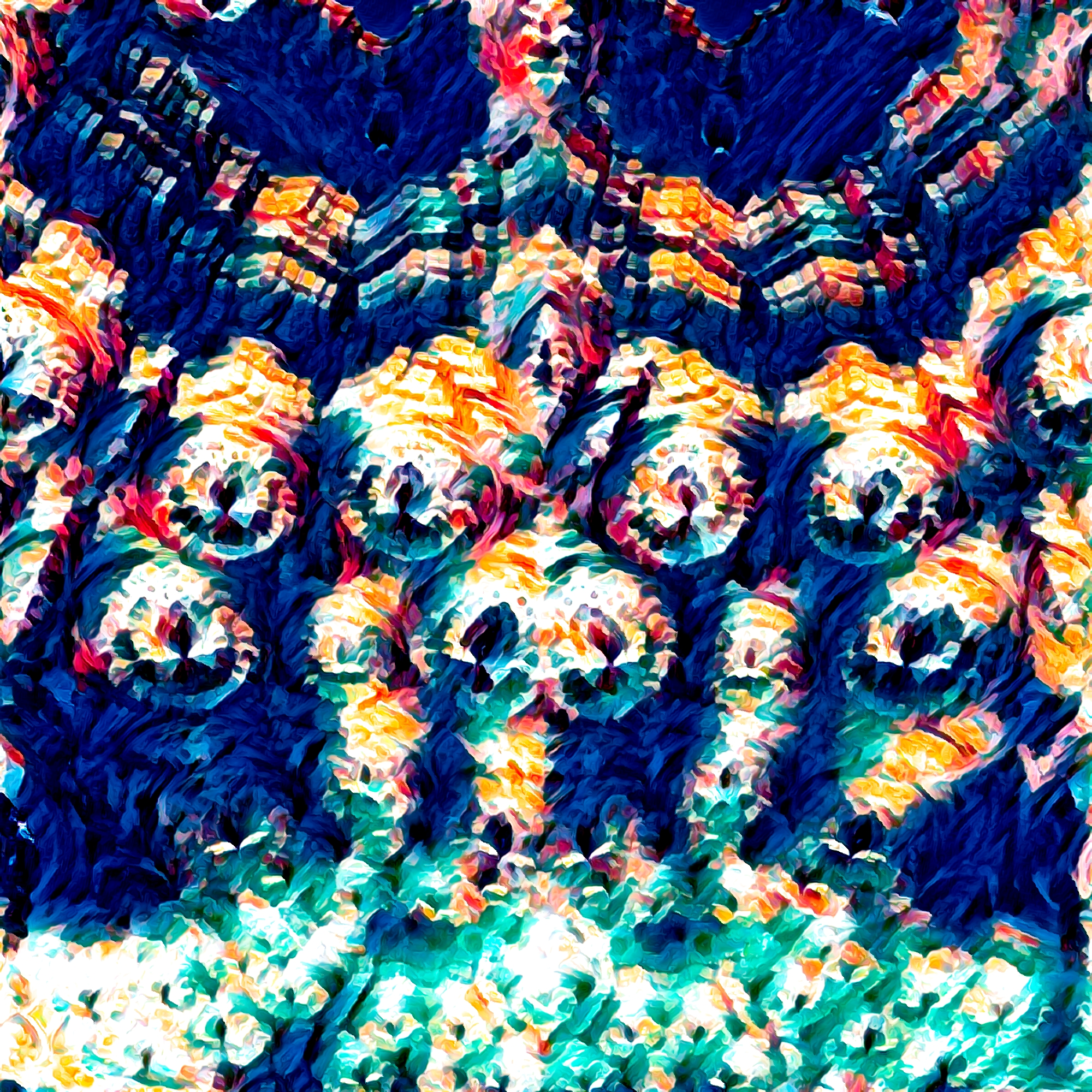 恐怖&怖い威圧的なファンタジーの壁&岩の壁紙:カラフル
